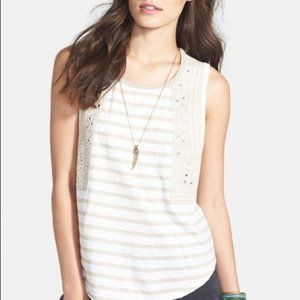 Free People Wear Your Sparkle Striped Mirror Tank